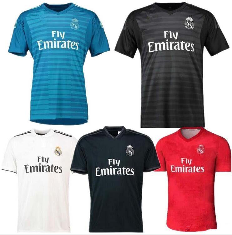 2018 2019 Camisetas De Fútbol Del Real Madrid De Local De Visitante RONALDO  ASENSIO MODRIC Camiseta De Portero De Portero BALE RAMOS BENZEMA Camiseta  Madrid ... ddb1f950c7b