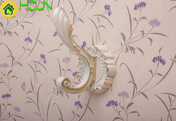 Großhandel Weiße Wandhaken Shabby Chic Mantel Doppelhaken Metall