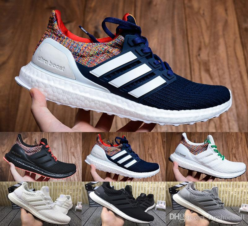 new style ad230 fe76b 2019 Ultra Boost 4.0 Triple Black White Multicolor Oreo Blue Grey Women  Running Shoes Men Sport Ultra Boosts Ultraboost 4.0 3.0 Sneakers Box Womens  Running ...