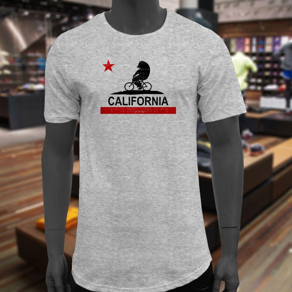 California Bear Rides Bike Black Republic Flag Ca Men Gray Extended Long  Tshirt T Shirt Men Male Unique White Short Sleeve Custom XXXL 10 T Shirt  Awesome T ... aa42dc6d7