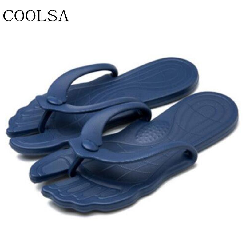 2e8968b27718f COOLSA Men S Summer Traveling Slippers Indoor Non Slip Bathroom Hotel  Folding Slippers Men Slides Beach Flip Flops Flat Sandals Green Shoes Ankle  Boots For ...