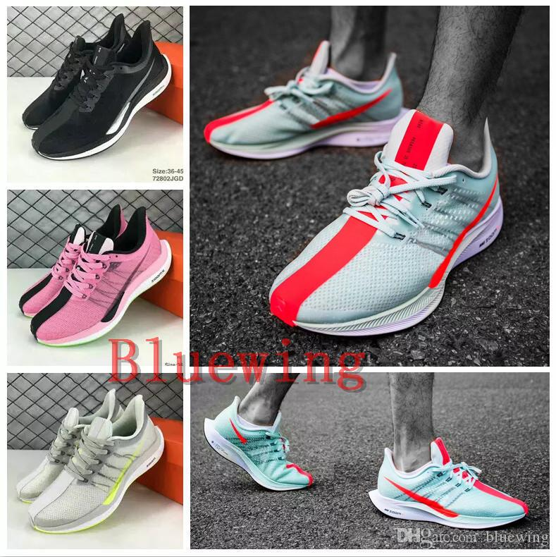 online store 21c8a 89c34 2019 Zoom Pegasus Turbo Barely Grey Hot Punch Black White Running Shoes Men  Women React Zoom X Vaporfly Pegasus 35 Trainers Zapatos 36-45