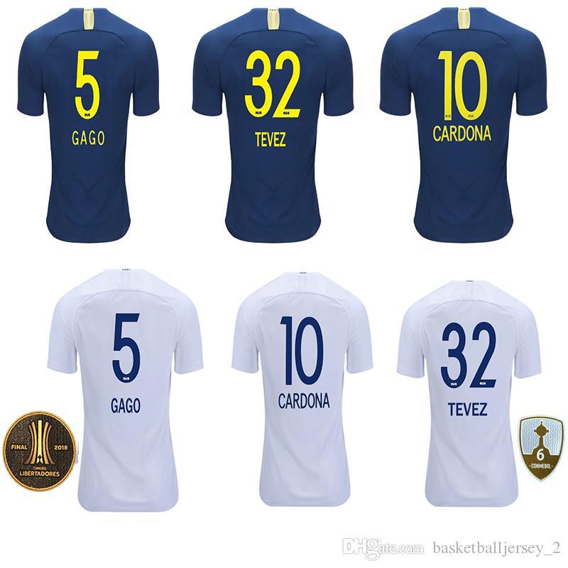 best website 34d3e f8c80 2018 copa Libertadores GAGO TEVEZ CARDONA ALIBA football shirt 18 19 Boca  Juniors soccer jersey top thailand PAVON camiseta de futbol