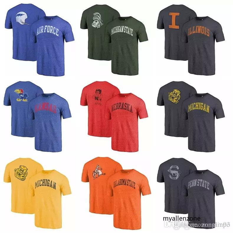 e15455a27 Branded Mens T Shirt Falcons Illinois Kansas Jayhawks Michigan State  Spartans Wolverines Heathered Royal Vault Two Hit Arch T-Shirt Online with  $34.04/Piece ...