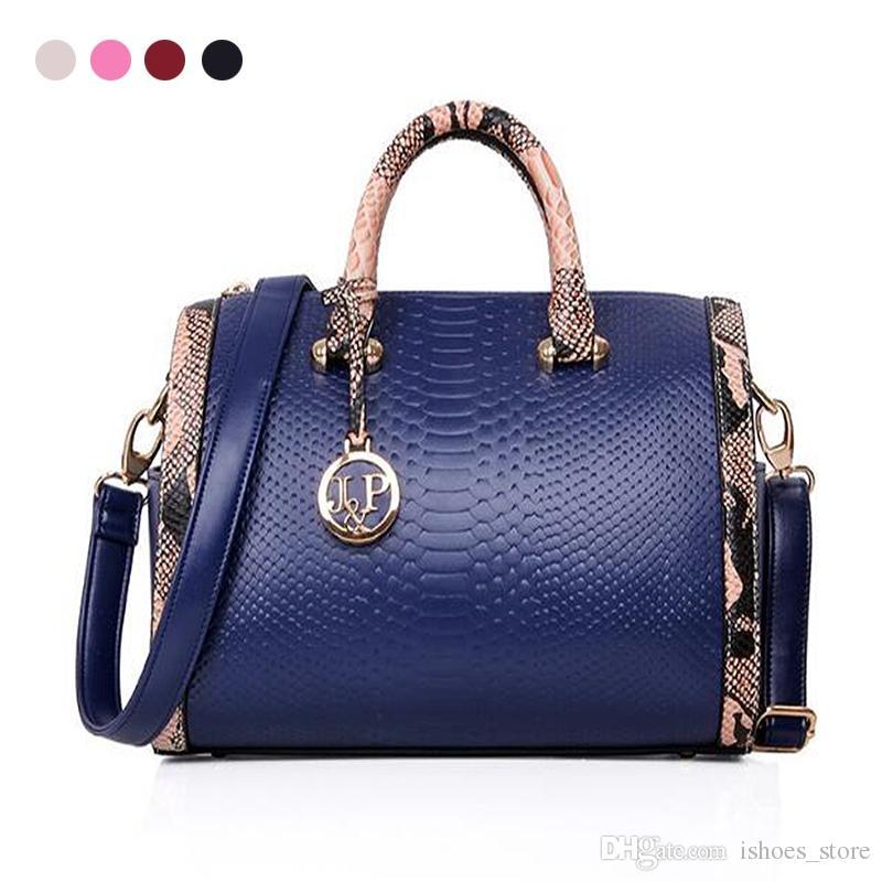 de64c733d4 Bolsas de moda Crossbody Bolsa De Couro Boston Travesseiro Irregular Bolsas  Mulheres Ombro Preto / Vermelho / Azul Sacos Famosa Marca Nova # 151649