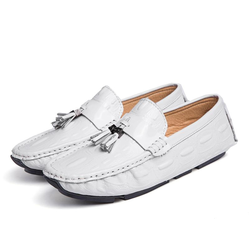 b18a990ff01 Casual Shoes Men Loafers Moccasins Leather Boat Shoes Slip On Mens Moccasin  Italian Designer Driving Shoes Lofers Black White Office Shoes Running Shoes  ...