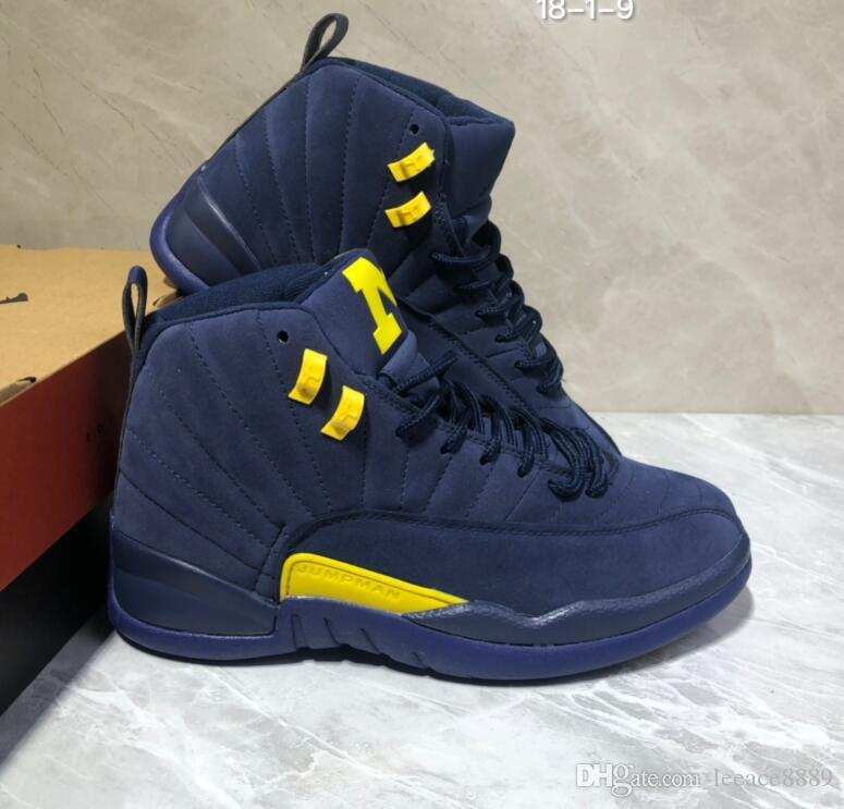 new concept d318e 4e666 New High quality 12 Michigan Retro Men Basketball shoes Casual sports  Training Running sneakers