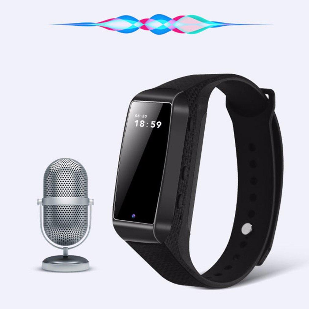 Wearable Hidden Voice Recorder Digital Professional Wristband Audio Sound Recorder Mini Rechargeable Bracelet Dictaphone