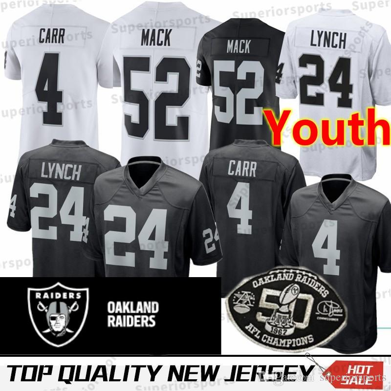 huge selection of 5aa1a e554e Derek Carr #4 Raiders On Field Jersey 100% Embroidered ...