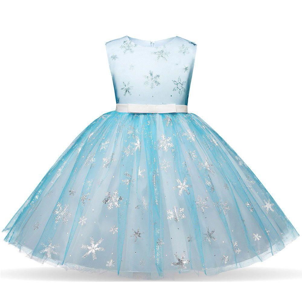 99ae50516 Compre Vestido De Niña Bebé Ropa Mujer Niños Niña Niña Navidad Copo De  Nieve Imprimir Princesa Bling Tutu Vestido Ropa Ropa De Navidad A  22.23 Del  Yohkoh ...