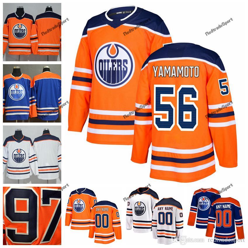 3c5b06e64cb 2019 2019 Customize Edmonton Oilers Kailer Yamamoto Hockey Jerseys New  Alternate Mens Orange 56 Kailer Yamamoto Stitched Jerseys Shirt S XXXL From  ...