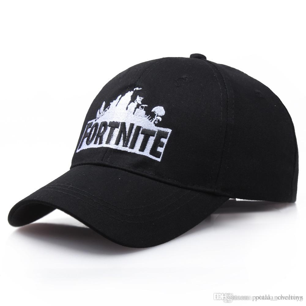 f1e6fed16261a 2019 Fortnite Battle Knitted Hats Baseball Street Dance Caps Embroidered  Cotton Hip Hop Embroidery Knitted Costume Black Grey White From  Potala cheering