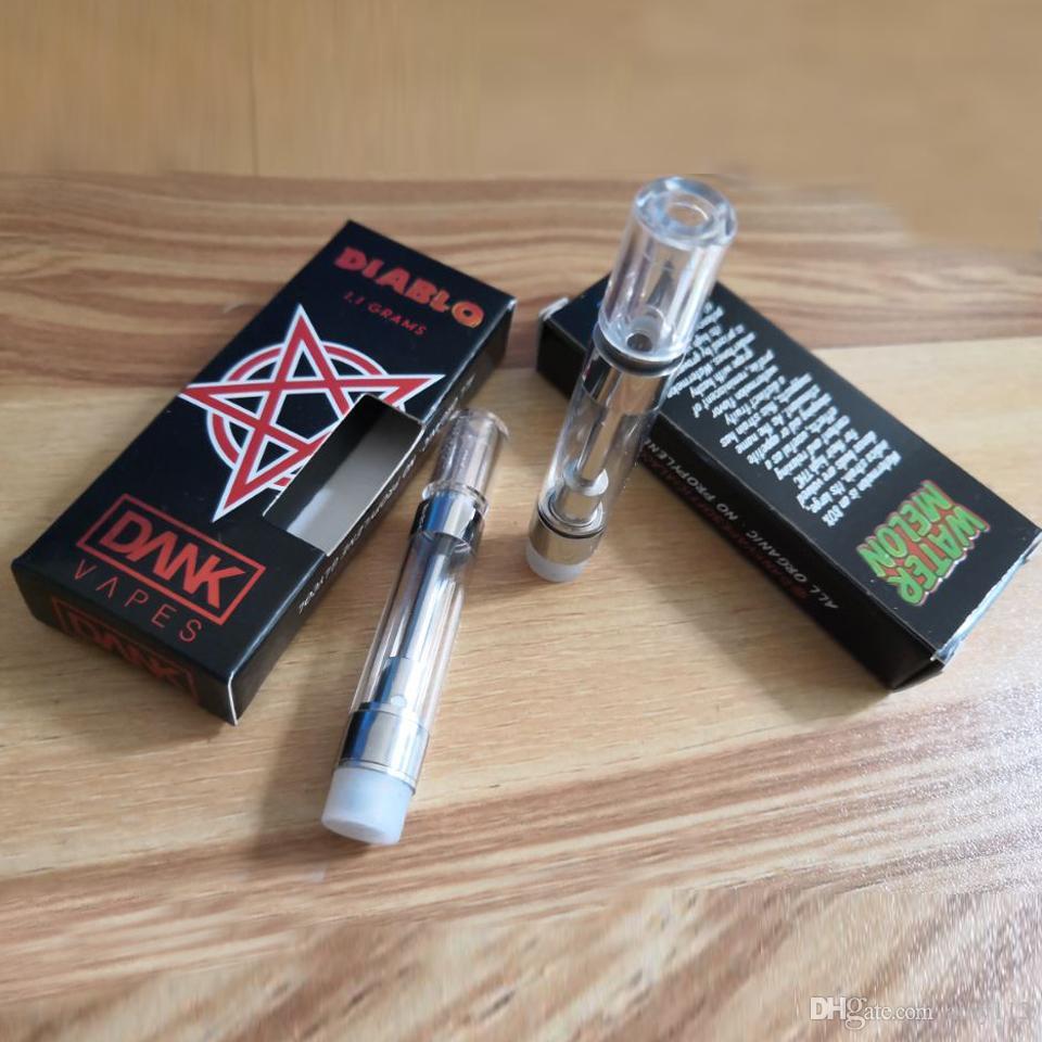 Empty Dank Vapes Cartridge black package 2 0mm Intake Hole thick oil  Ceramic Coil G5 MT6 Glass Atomizer vape pen Ecig DHL Free