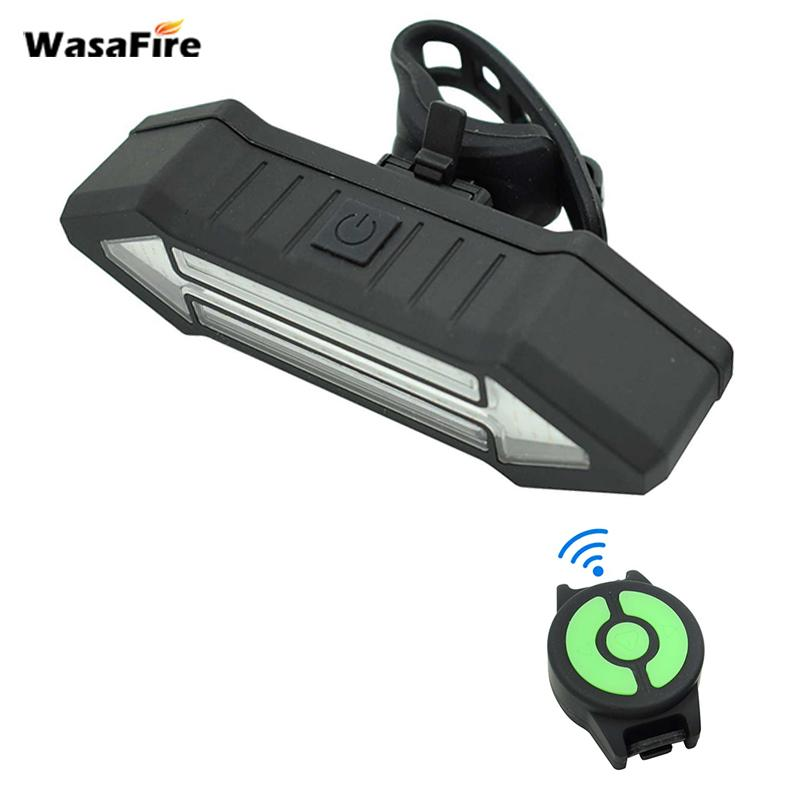 WasaFire Bicycle Rear Lamp 4 Modes LED Red Remote Control Arrow Turn Light  USB Rechargeable Bike Tail Light bicycle lights Gift