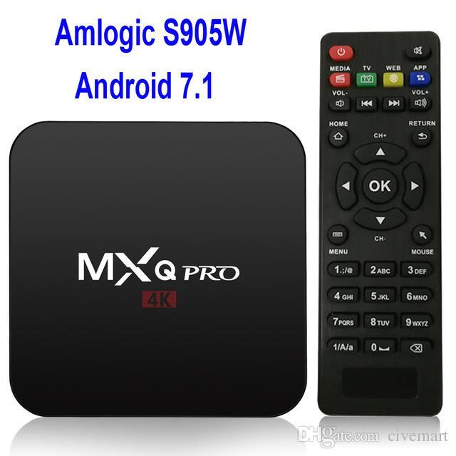 Android tv box MXQ Pro 4K TV Box Amlogic S905W android 7 1 18 0 set top box  X96 mini
