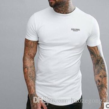 2019 Men T-shirt Slim Fit High Stretch Casual Sporting Solid Color Summer Mens Tops Short-sleeved Cotton Dry Quick T Shirt Pretty And Colorful T-shirts