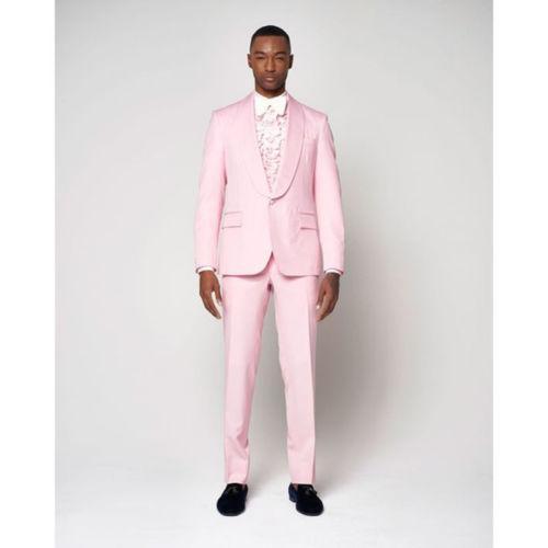 73e91f90f9500c Luz Rosa Homens Terno Do Noivo Smoking Slim Fit 2 Peças de Casamento Dos  Homens Ternos Prom Blazer jaqueta calça
