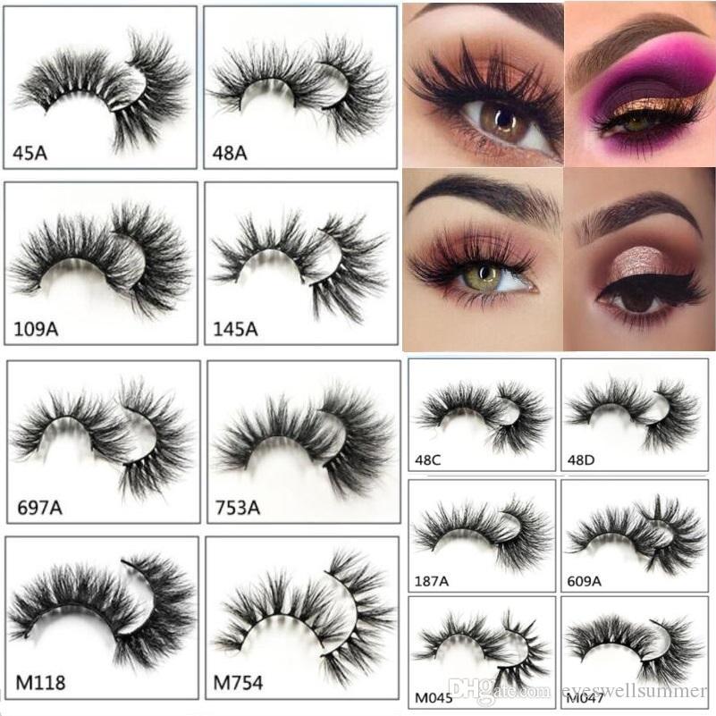 2cf81f05f44 25mm 5D Eyelashes Mink False Eyelashes Ultra Long Lashes Adds Volume  Seduction Lightweight Comfortable Wear Makeup Eyelash Extension Supplies  Eyelash ...