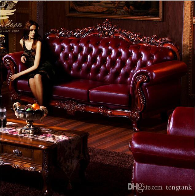 fashion modern Hot Sale new arrival Sofa French Design genuine leather living room furniture Sofa 1+2+3 o1056