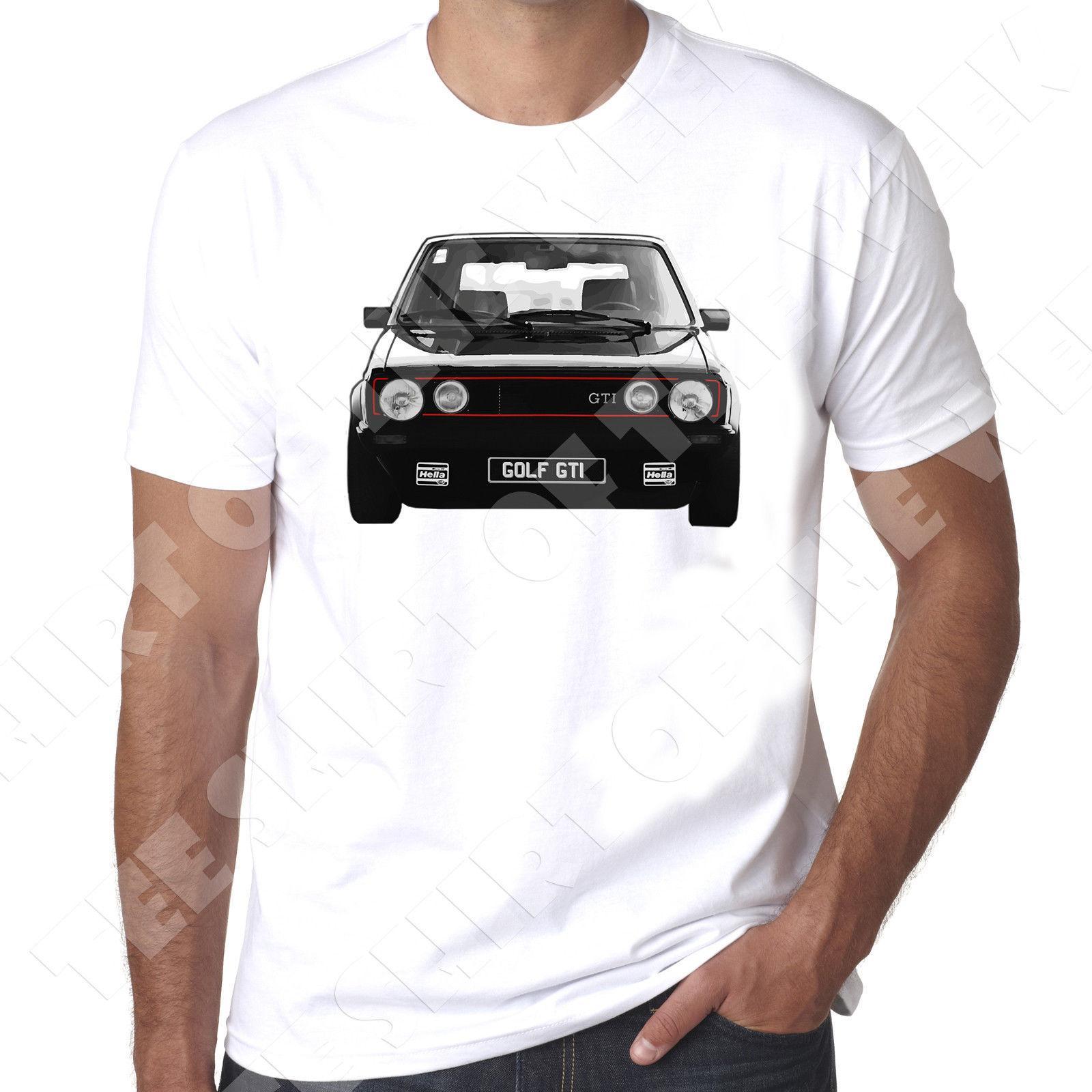 8135ca813cfb8 Acquista Gti Mk1 Fronte Anteriore Nero Golf T Shirt Bianca Stampata Da Uomo  100% Cotone 2018 T Shirt Da Uomo In Cotone A Manica Corta Da Uomo A  11.01  Dal ...
