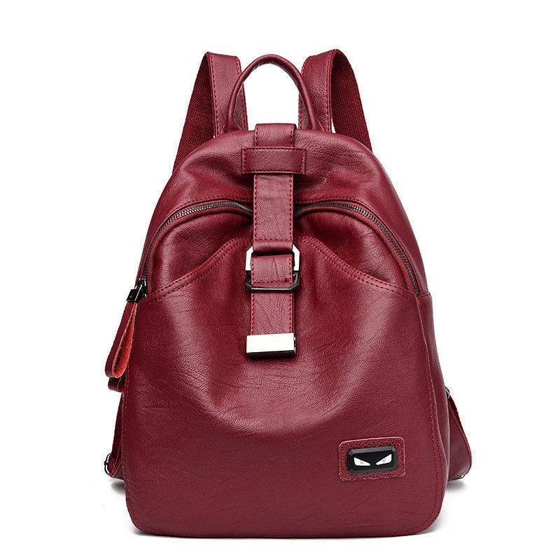 2396da26f New Women Bag Multifunction Backpack High Quality Soft Pu Leather Mochila  Escolar School Bags For Teenagers Girls Top Handle Backpack Purse Dog  Backpack ...