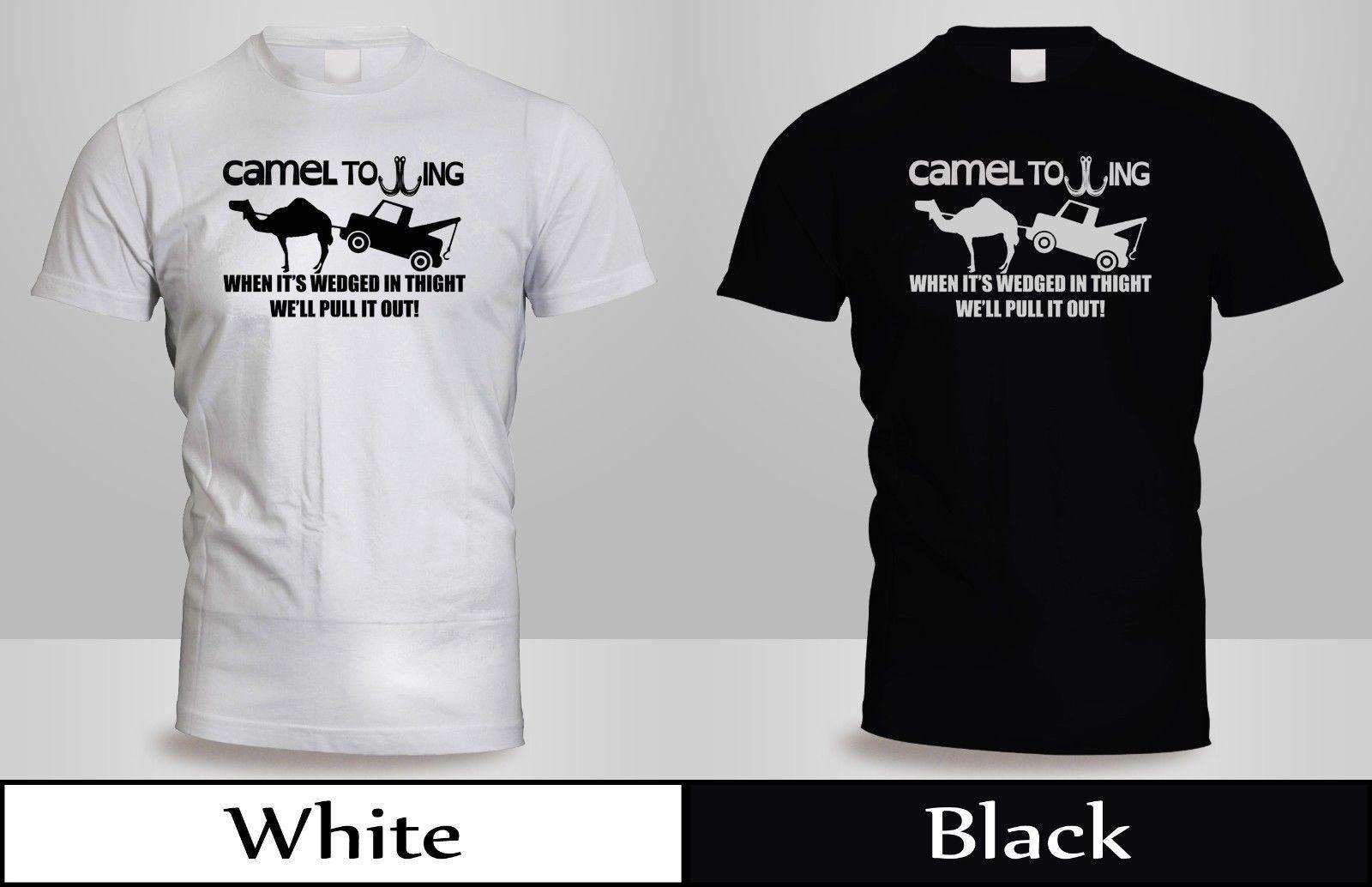 388c7ce59 Camel Towing T Shirt Mens Black&White Tow Service Toe College Humor Cool  Shirt 4Funny Unisex Casual Tshirt Top Cool Tee Shirts Cool Tees From  Lazyfruit, ...