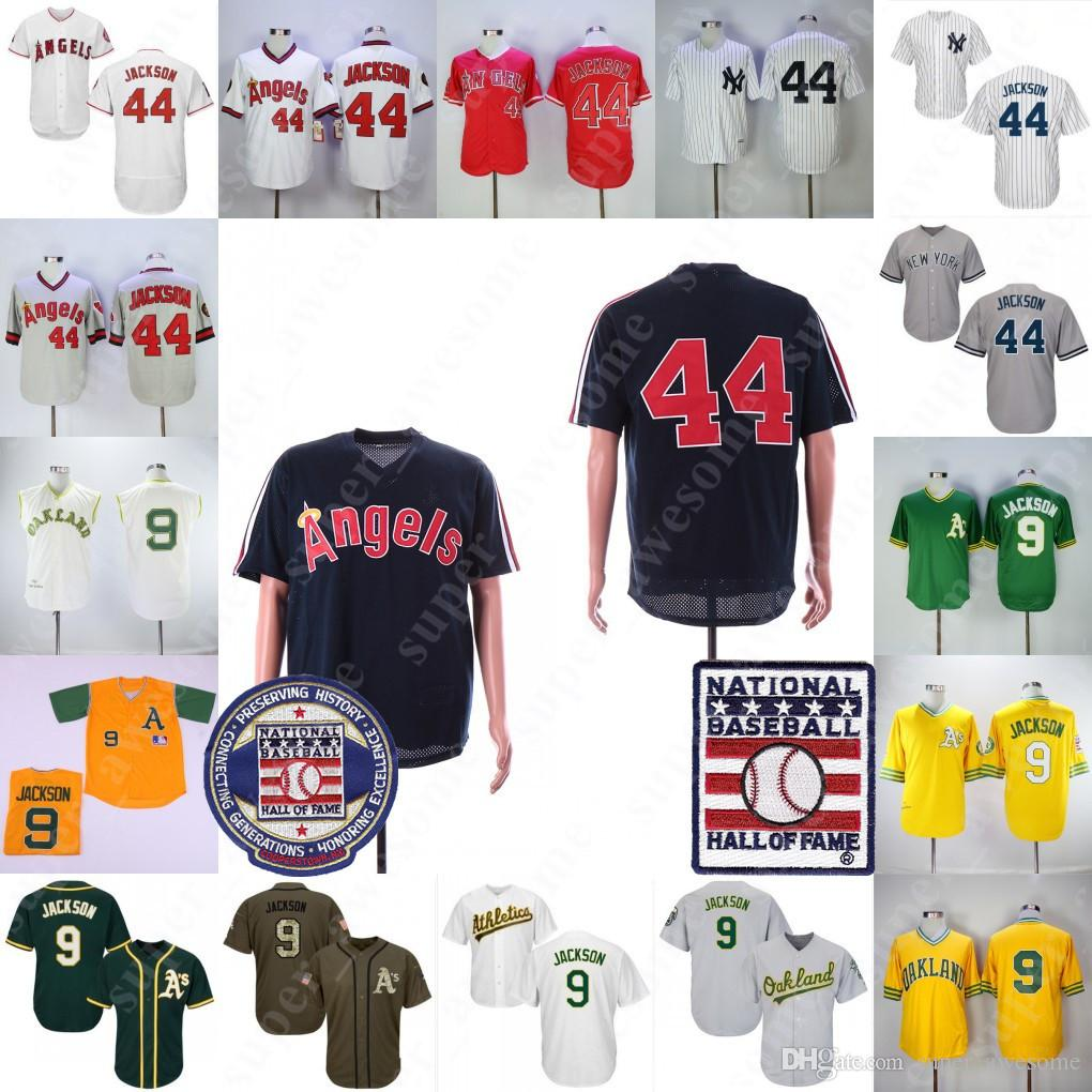 f54fc4853 ... 2019 reggie jackson jersey with hall of fame patch oakland athletics 9  los angeles new york