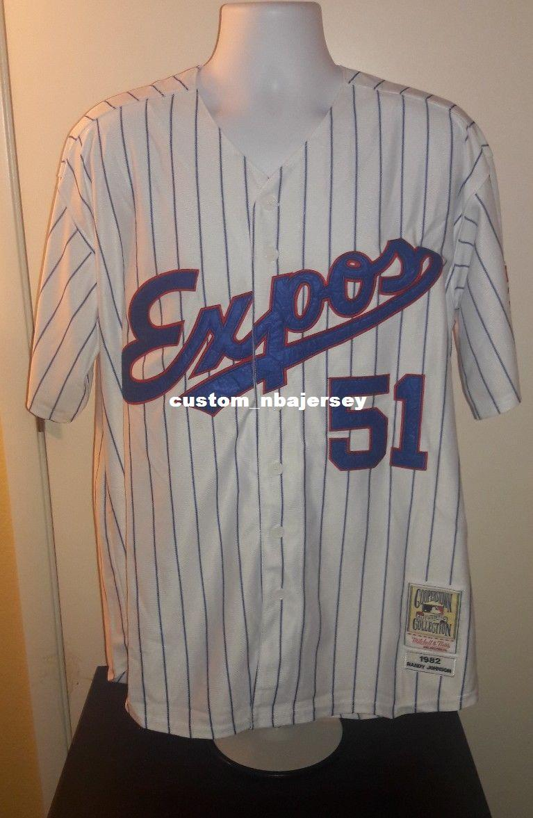 a1285a01134 2019 Cheap Randy Johnson Montreal Expos1982 Retro Jersey Stitched Customize  Any Number Name MEN WOMEN YOUTH XS 5XL From Custom nbajersey