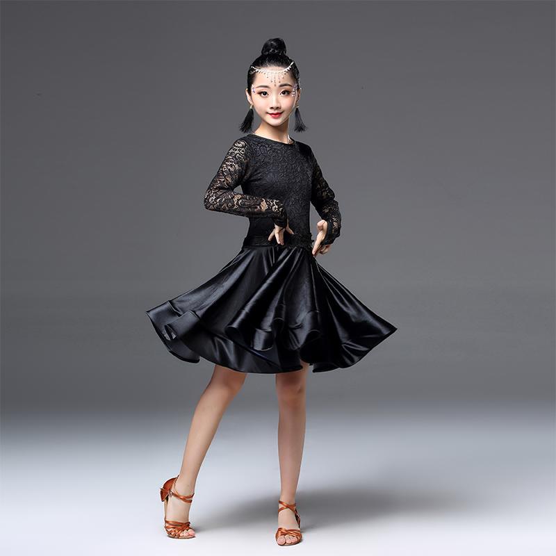 d10e5a601b57 2019 Modern Girl Latin Dance Dress Ballroom Child Professional Competition  Dancewear Kids Dance Costumes Salsa Tango Practice Dress From Mikety, ...