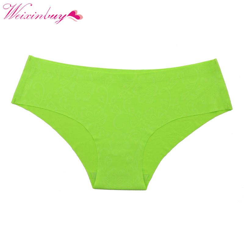 2019 WEIXINBUY Sexy Women Girls Bikini Briefs Fashion Seamless Panties  Intimates Flower Print Underwear Panty From Mantle 6ec49703a