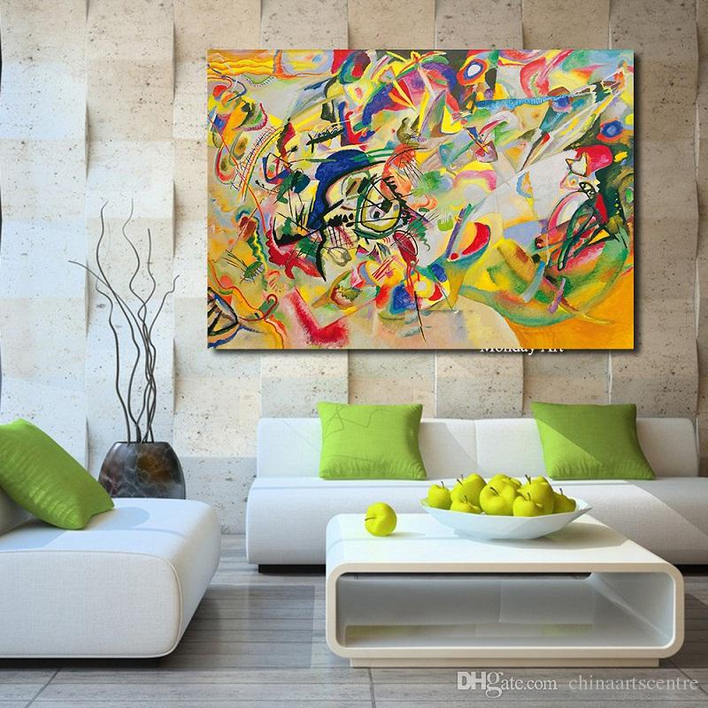 Hand painted Textur Abstract Art Oil Painting Famous artist Picasso abstract painting Guernica On Canvas Wall Art Home decoration G147