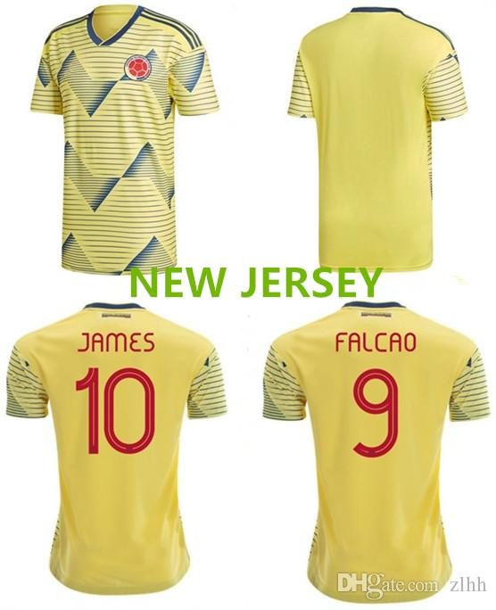 12d86be0c 3AAA+2019 Colombia Soccer Jersey Colombia Home Yellow Soccer Shirt ...