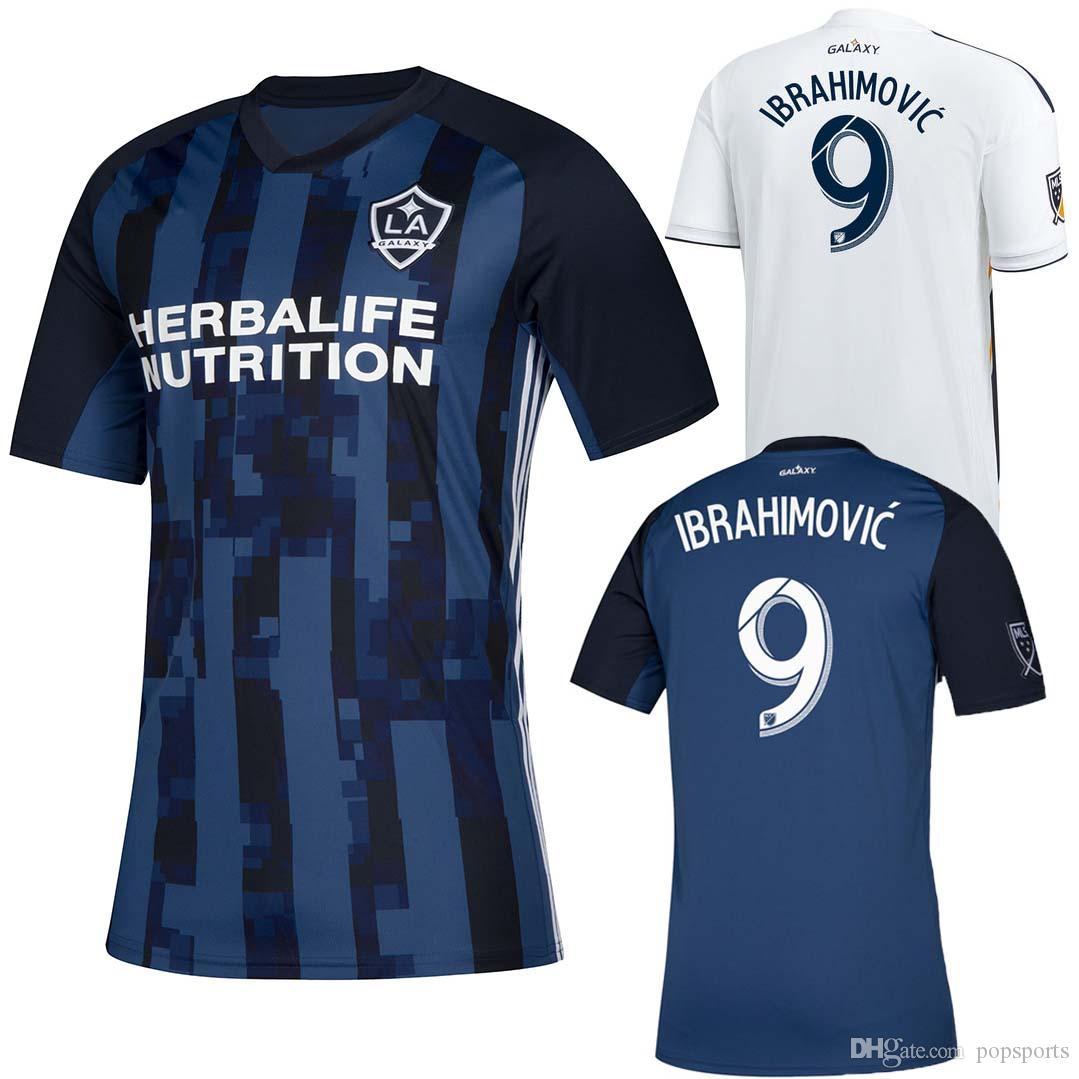 lowest price 8d719 99fd4 LA Galaxy 2019 2020 Soccer jersey Los Angeles home away kit Navy  IBRAHIMOVIC GERRARD GIOVANI ZARDES ROGERS football shirt top quality