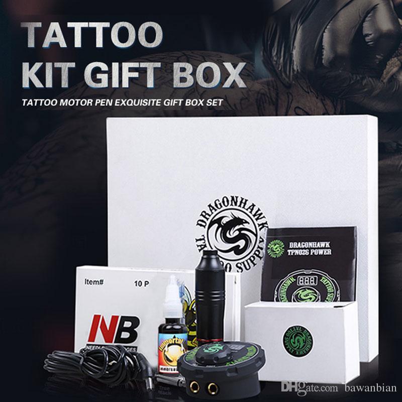 Professional Tattoo Kit Set Rotary Tattoo Machine Pen Power Ink Sets ...