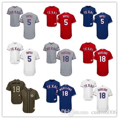 finest selection e7e16 12283 2019 Texas #5 Mike Napoli 18 Mitch Moreland men#WOMEN#YOUTH#Men's Baseball  Jersey Majestic stitched professional Rangers