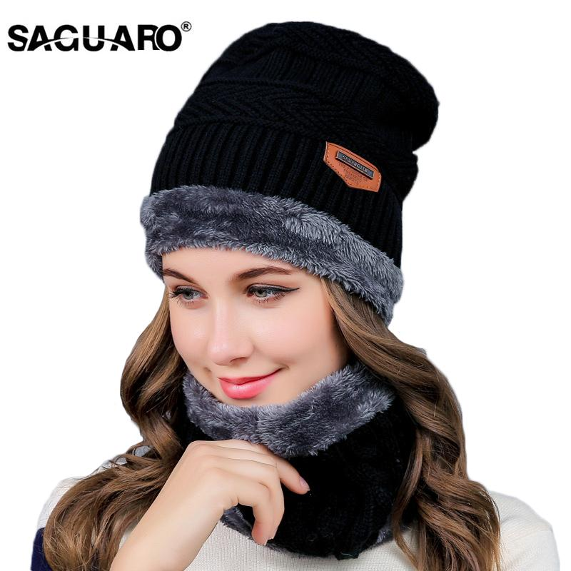2019 Winter Hats For Men SAGUARO Ski Hat Cap Balaclava Knitted Hat Scarf Cap  Neck Warmer Winter Hats For Men Women Skullies Beanies From Cosplay 003 61e64567111