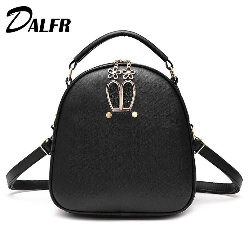 DALFR Mini Backpack 2018 New Preppy Style Ladies Lovely Pretty School bag For Teenage Adolescent College Backpack Women Fashion