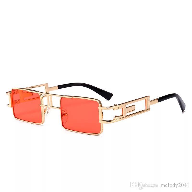 7f31cb1c02da 2019 Hot Sale Cool Metal Square Frame Sunglasses Vintage Steam Punk Metal  Sun Glasses UV400 Wholesale Glass Frames Online Eyeglasses From Melody2041,  ...
