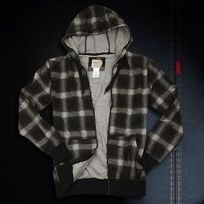 2016 New Men Casual Sweatshirt Man hoody male coat jacket plaid hoodie with a hood zipp spring and autumn Fashion Promotion