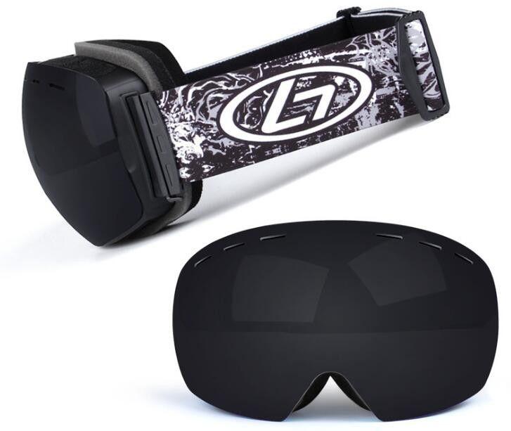 2f893aa7b08 Ski Goggles Double Layers UV400 Anti-fog Big Ski Mask Glasses Skiing ...