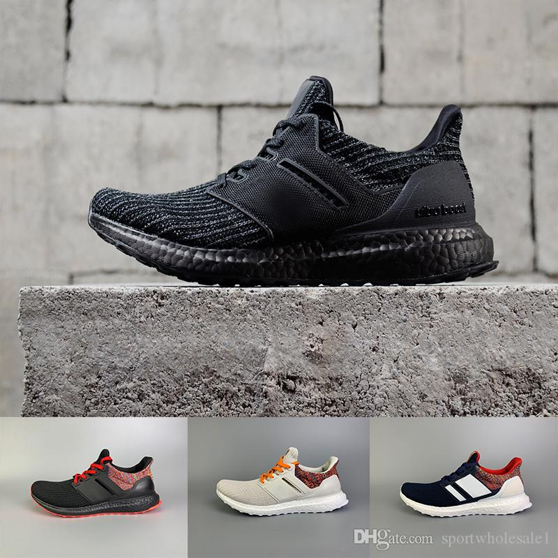 00b858c0ed38a Top Quality 2019 UltraBoost 4.0 Shoes Men Women Triple Black Multicolor  White CNY Show Your Stripes Primeknit Sports Sneakers Sneakers Office Shoes  From ...