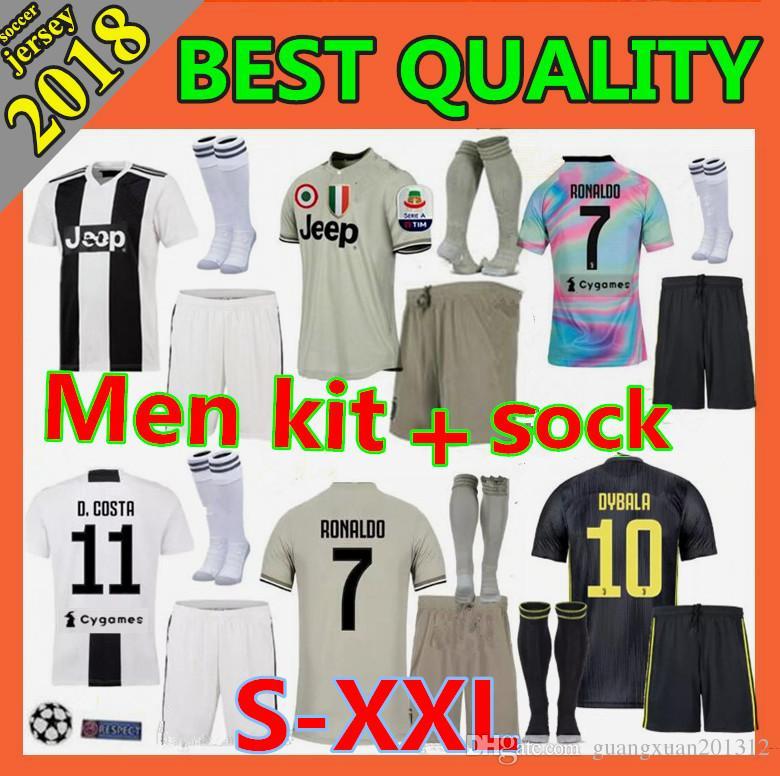 bba4919a7 Size S-XXL Champions League 2018 Adult RONALDO JUVENTUS Soccer ...