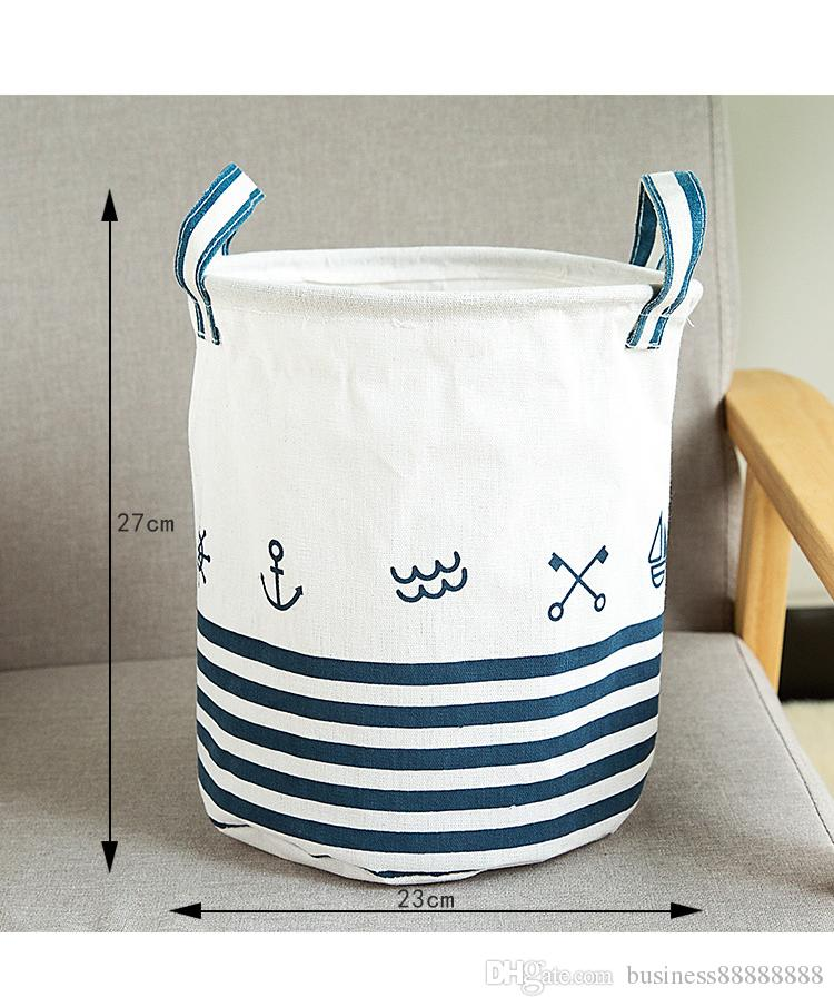 1pc wholesale Cloth Dirty Clothes Basket Storage Barrels Folded Large Clothes Laundry Basket Storage Basket Fashion Simple 6 Styles Optional