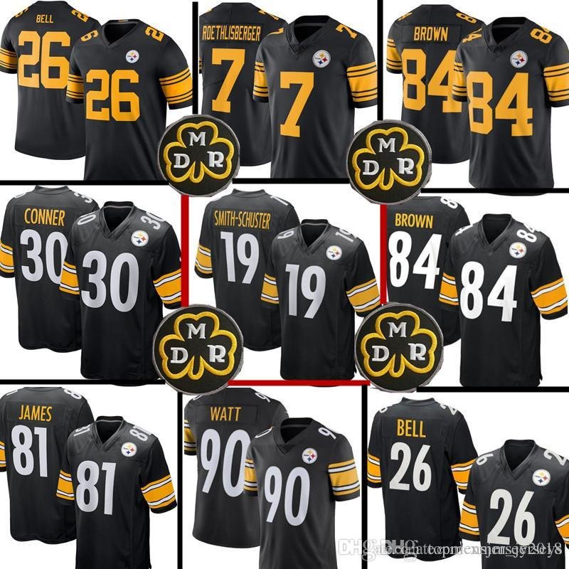 e18dbcd33 2018 19 Juju Smith Schuster Jersey Pittsburgh Steelers 84 Antonio Brown 30  James Conner 7 Ben Roethlisberger 90 T.J. Watt From Topmensjersey2018