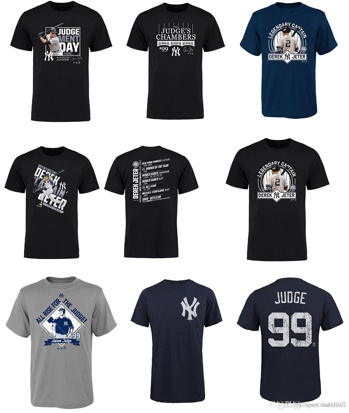 b3472731a 2017 MLB New York Yankees T Shirt Aaron Judge Judgement Day T Shir All Star  Game Home Run Derby Champion Robinson Cano ALL STAR MVP Tee Different T  Shirts ...