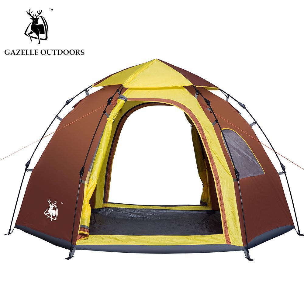 ef5544428175c Acheter EXTÉRIEUR Tente Jetée Extérieure Automatique Tentes Jetant Pop Up Tente  De Camping Imperméable À L'eau Étanche 5 6 Personnes De $61.97 Du ...