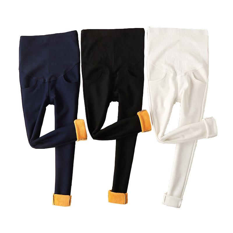 7e2a9cbb0 Compre Envsoll M 3XL 2018 Cálidos Pantalones De Maternidad De Invierno Para  Mujeres Embarazadas Pantalones De Terciopelo Gruesos Polainas Embarazadas  Use ...