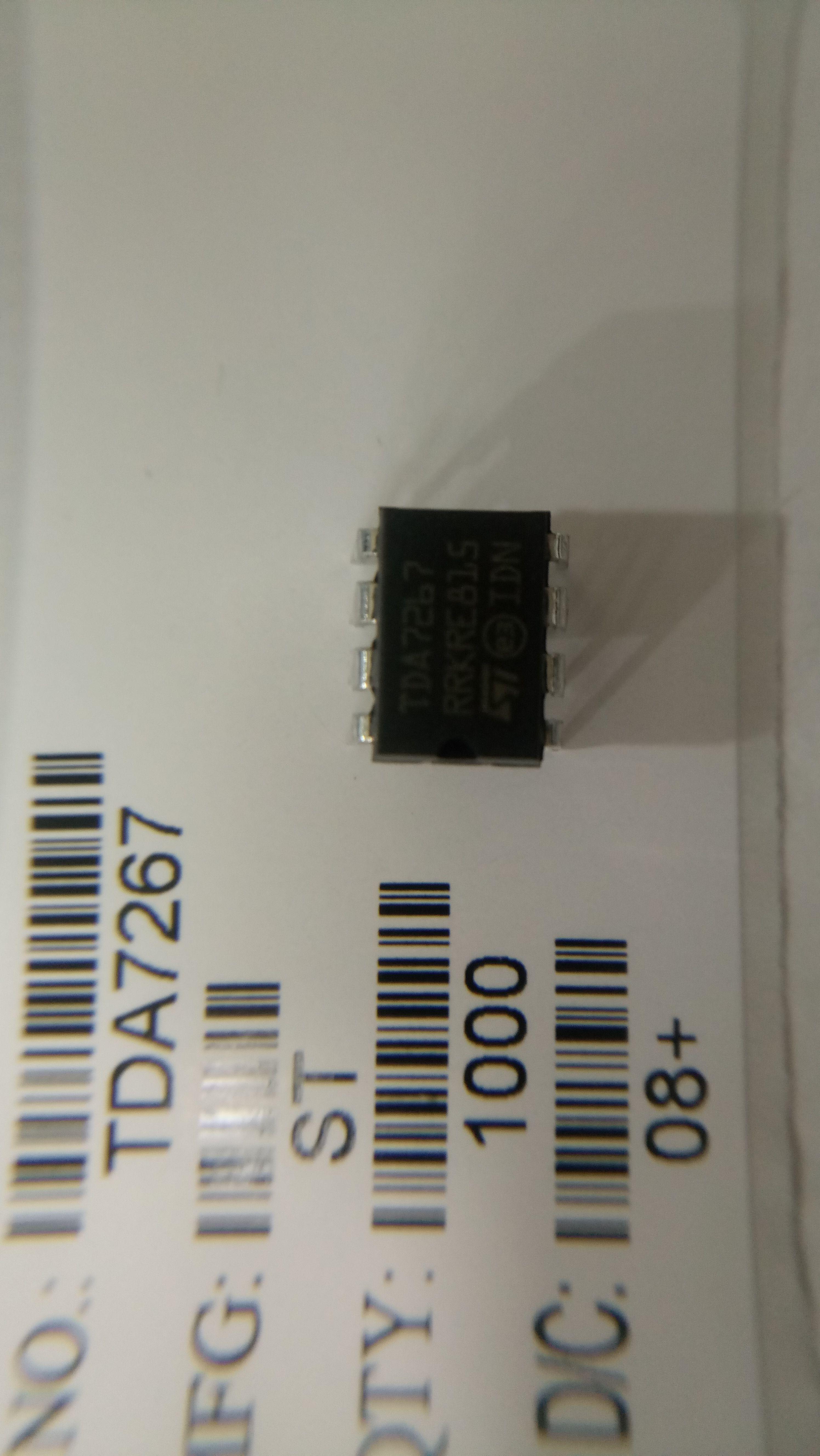 10PCS TDA7267 PDIP-8 original STMicroelectronics 2w Mono audio Amplifier  One-stop distribution of electronic components Accept ROM e-shop