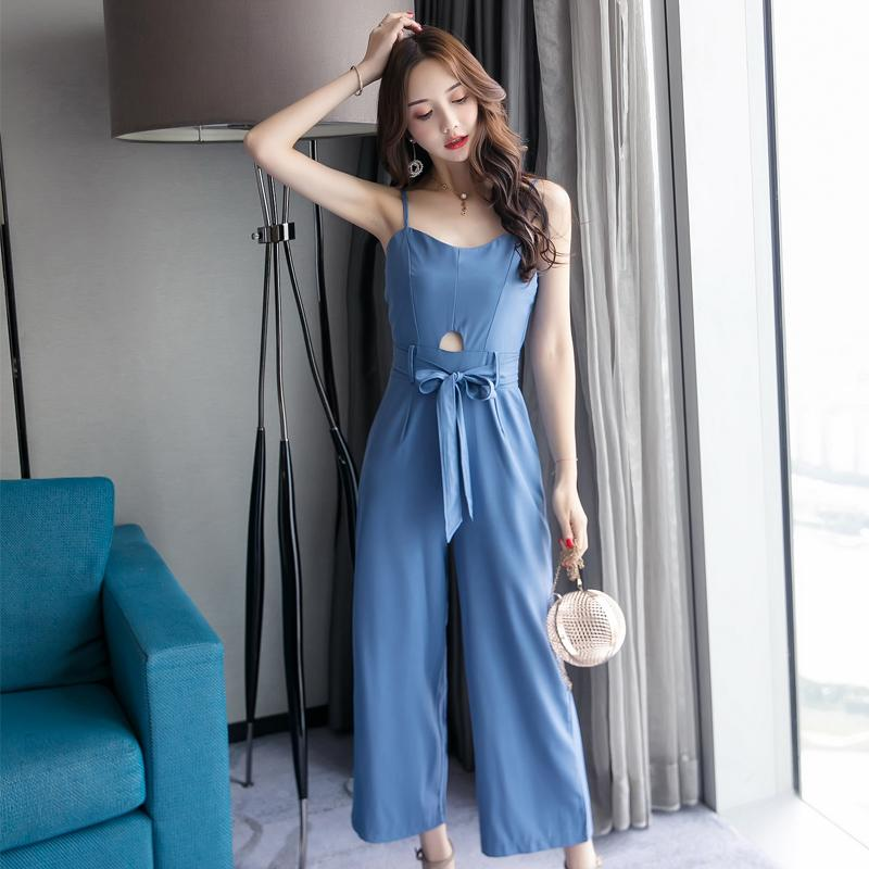 7c755ec7228 2019 Fashion Brands Women S Clothing Solid Hollow Out Jumpsuit V Neck  Spaghetti Strap Playsuits Summer Style Bodysuit Woman New From Cutelove66