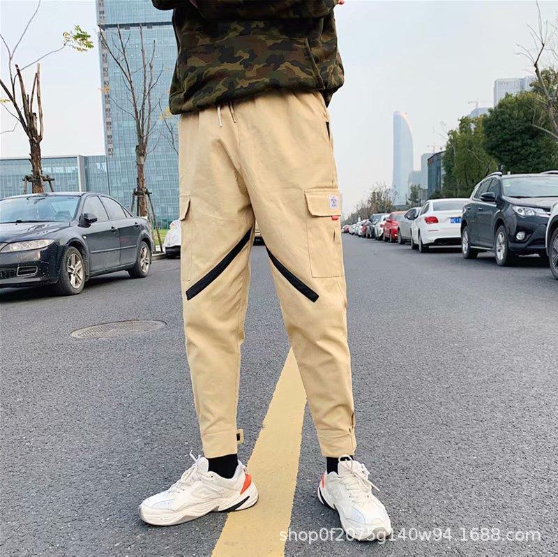 2019 Fashion Cargo Pants Men Style Khaki Straight Hiking Pant Homme